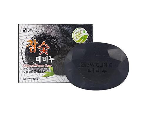 Мыло для лица и тела с древесным углем