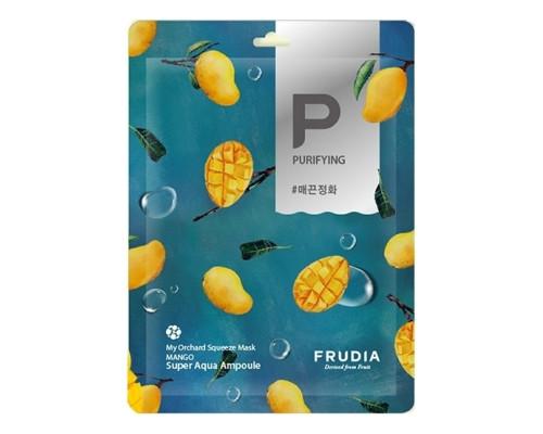 Смягчающая тканевая маска для лица с манго Frudia My Orchard Squeeze Mask Mango