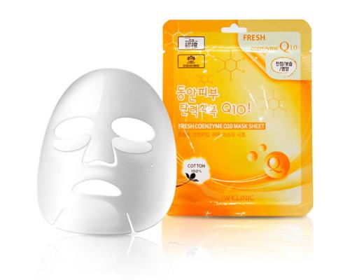 Тканевая маска для лица с коэнзимом Q10 3W Clinic