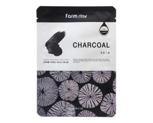 Тканевая маска с углем Visible Difference Mask Sheet Charcoal