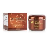 Восстанавливающий крем для лица с муцином улитки JIGOTT Snail Reparing Cream