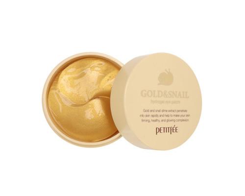 Гидрогелевые патчи для глаз Petitfee Gold улитка-золото