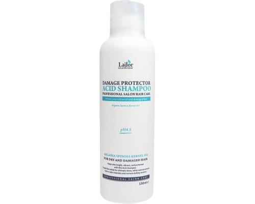 Защитный шампунь с коллагеном и аргановым маслом для поврежденных волос Lador Damaged Protector Acid Shampoo - 150 мл