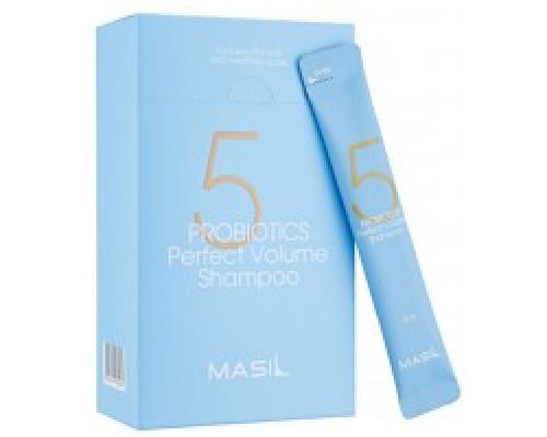 Мягкий шампунь для объема волос с пробиотиками Masil 5 Probiotics Perpect Volume Shampoo 8мл